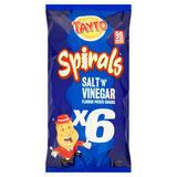 Tayto Spirals Salt 'N' Vinegar Flavour Potato Snacks 6 x 20g (120g)
