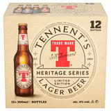 Tennent's Limited Edition Heritage Series Lager Beer 12 x 300ml