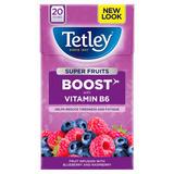 Tetley Super Fruits Boost Blueberry & Raspberry Tea Bags x20