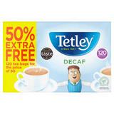 Tetley Decaf 120 Tea Bags 375g