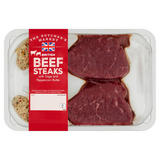 The Butcher's Market British Beef Steaks with Sage and Peppercorn Butter 300g
