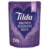 Tilda Brown Microwave Basmati Rice Classics 250g