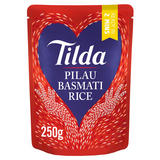 Tilda Pilau Microwave Basmati Rice Classics 250g
