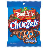 Toad-Ally Snax Choczels Chocolate Flavor Coated Pretzels 85g