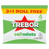 Trebor Softmints Peppermint 3+1 Free Rolls 179.6g
