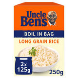 Uncle Bens Boil In Bag Long Grain Rice 2 x 125g