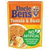 Uncle Bens Microwave Tomato and Basil Rice 250g