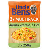 Uncle Bens Microwave Golden Vegetable Rice 3 x 250g