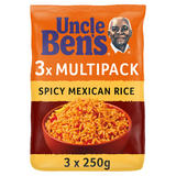 Uncle Bens Microwave Spicy Mexican Rice 3 x 250g