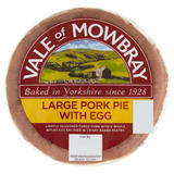 Vale of Mowbray Large Pork Pie with Egg