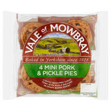 Vale of Mowbray 4 Mini Pork & Pickle Pies