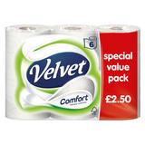 Velvet Comfort 6 Toilet Rolls