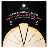 Vittles 14 Pre-Portioned Slices New York Cheesecake 1.53kg
