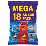 Walkers Mega Variety Snacks 18 Packs