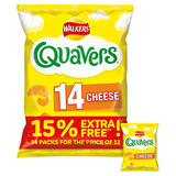 Walkers Quavers Cheese Snacks 14x16g