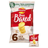 Walkers Baked Sea Salt Potato Snacks 6x25g