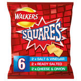 Walkers Squares Variety Snacks 6x22g