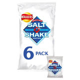 Walkers Salt & Shake Crisps 6 x 24g