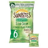 Sunbites Sour Cream Multigrain Snacks 6x25g