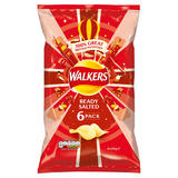 Walkers Ready Salted Crisps 6x25g