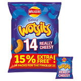 Walkers Wotsits Really Cheesy Snacks 14x16.5g