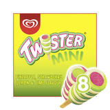 Twister Pineapple, Lemon-Lime and Strawberry Mini Ice Cream Lolly 8 x 50ml