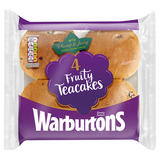 Warburtons 4 Fruity Teacakes with Currants, Sultanas & Raisins