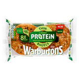 Warburtons 4 Seeded Protein Thin Bagels Sliced