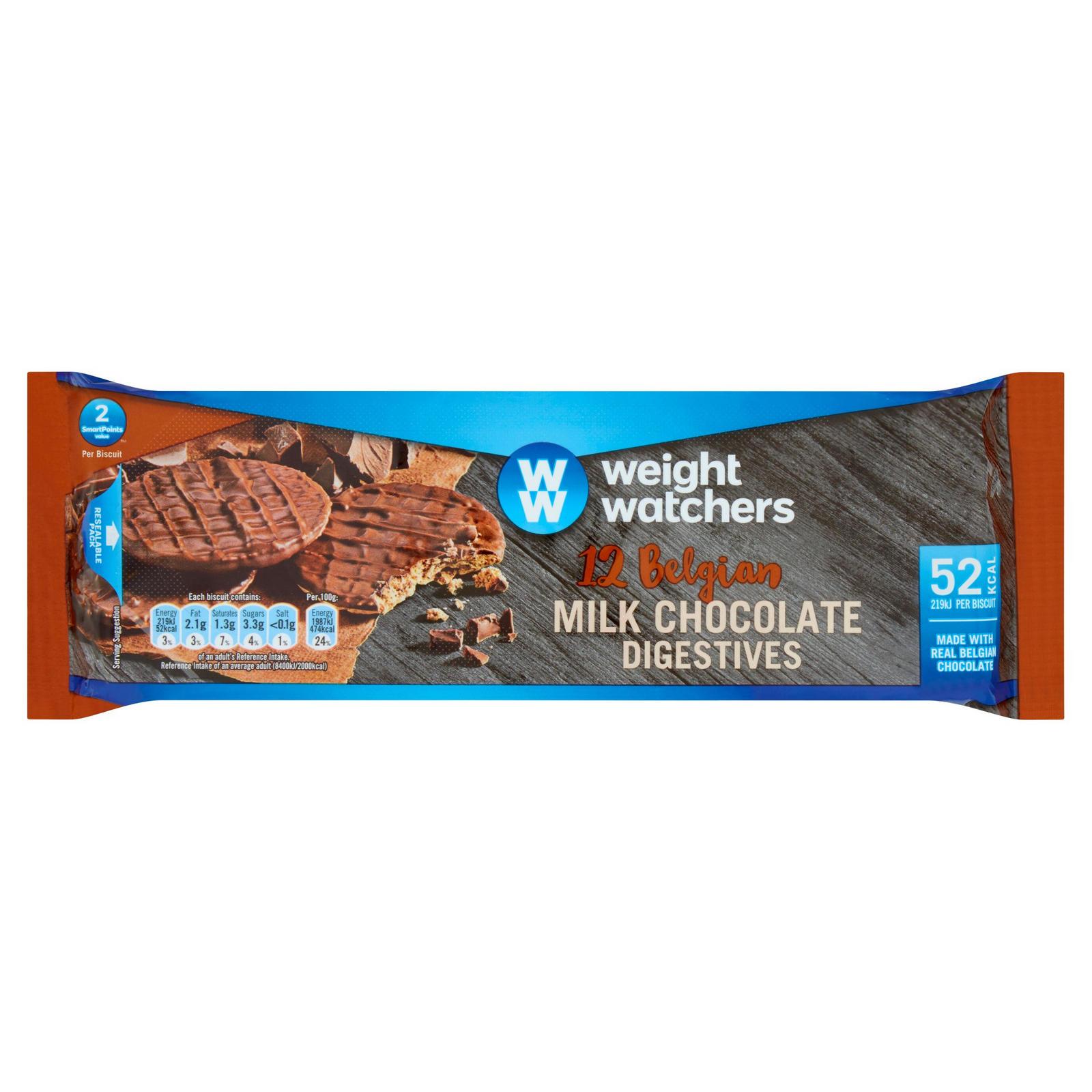 Weight Watchers 12 Belgian Milk Chocolate Digestives 132g