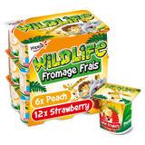 Yoplait Wildlife Strawberry & Peach Fromage Frais 18 x 45g