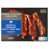 World Famous Smokehouse Memphis Tennessee Meaty Pork Ribs 450g