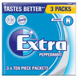 Wrigley's Extra Peppermint Sugarfree Chewing Gum 3 Packs 42g