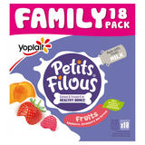 Petits Filous Strawberry, Raspberry and Apricot Fromage Frais 18 x 47g