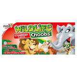 Wildlife Choobs Strawberry Flavour Yogurt Tubes 6 x 37g