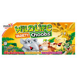 Wildlife Choobs Strawberry, Raspberry and Apricot Flavour Yogurt Tubes 6 x 37g