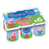 Peppa Pig Strawberry Fromage Frais 6x45g