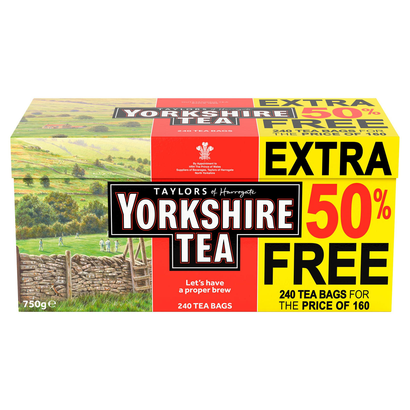 Taylors Of Harrogate Yorkshire Tea 160 Teabags 50 Free