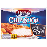 Young's Chip Shop Large Cod Fillet and Chips 300g
