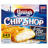 Young's Chip Shop 4 Large Cod Fillets 480g