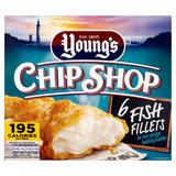 Young's Chip Shop 6 Fish Fillets 600g