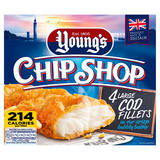Young's Chip Shop 4 Large Cod Fillets 440g