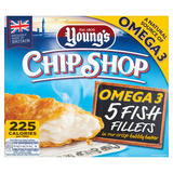 Young's Chip Shop 5 Fish Fillets 500g