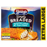 Young's Simply Breaded 2 Extra Larger Fish Fillets 320g