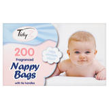 TidyZ 200 Fragranced Nappy Bags with Tie Handles