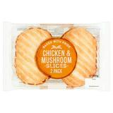 2 Chicken & Mushroom Slices 300g