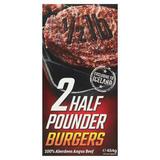 Iceland 2 Half Pounder Burgers 454g