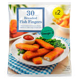 30 Breaded Fish Fingers 750g