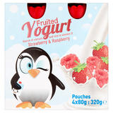 Fruited Yogurt Strawberry & Raspberry 4x80g (320g)