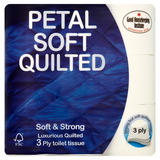 Petal Soft Quilted Toilet Tissue 3 Ply 9 Rolls