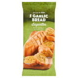 Ready to Bake 5 Garlic Bread Baguettes 845g